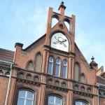 Altes historisches Postgebäude in der Altstadt