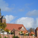 Stadtbefestigungsanlage mit Blick auf Roßfurt u. St. Stephanskirche