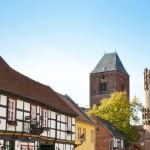 Altstadt Tangermünde mit Blick auf Nikolaikirche u. Neustädter Tor
